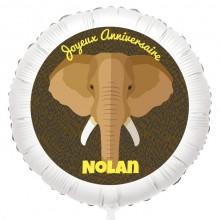 Ballon Elephant - Gonflé à l'Hélium 55 cm