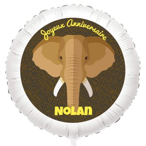 Ballon Elephant - Gonflé à l Hélium 55 cm
