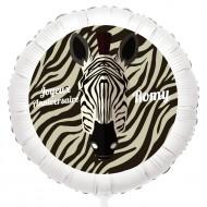 Ballon Zèbre - Gonflé à l'Hélium 55 cm
