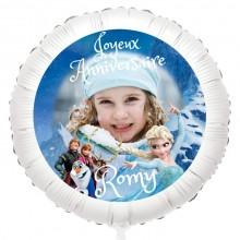 Ballon Reine des Neiges Photo - Gonflé à l'Hélium 55 cm