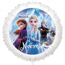 Ballon Reine des Neiges - Gonflé à l'Hélium 55 cm