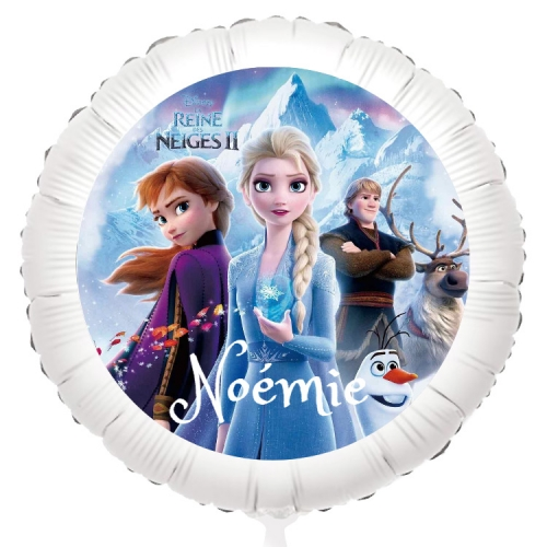 Ballon Reine des Neiges - Gonflé à l Hélium 55 cm