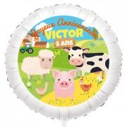 Ballon Animaux de la ferme - Gonflé à l'Hélium 55 cm