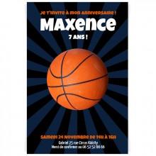 Invitation à personnaliser - Ballon de basket