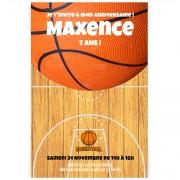 Invitation à personnaliser - Terrain de basket