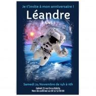 Invitation à personnaliser - Astronaute