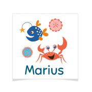 8 Tatouages à personnaliser - Crabe