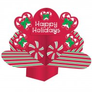 Centre de table Pop-up Happy Holidays
