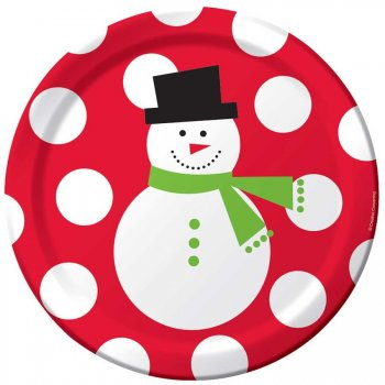 50 Assiettes Snowman Fun