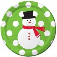 50 Petites Assiettes Snowman Fun