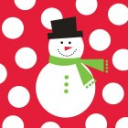 100 Serviettes Snowman Fun