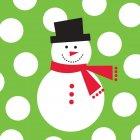 100 Petites Serviettes Snowman Fun