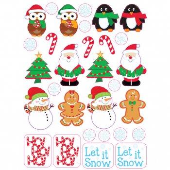 4 Planches de stickers Noël