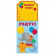 8 Invitations Sweet Circus