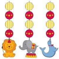 Contient : 1 x 3 Décorations à Suspendre Sweet Circus