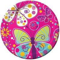 Contient : 1 x 8 Assiettes Papillon Fun