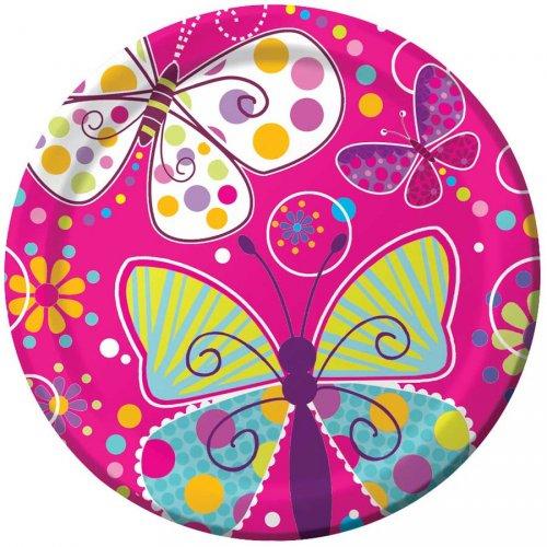 8 Assiettes Papillon Fun