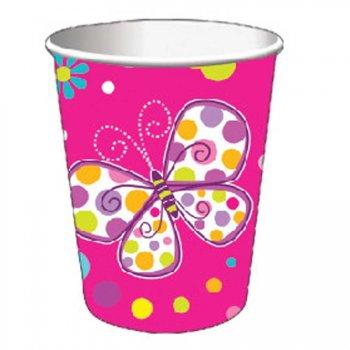 8 Gobelets Papillon Fun