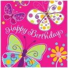 16 Serviettes Papillon Fun