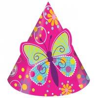 Contient : 1 x 8 Chapeaux Papillon Fun