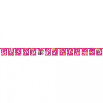 Guirlande lettres Happy Birthday Papillon Fun