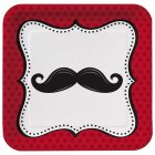 8 Assiettes Moustache Party