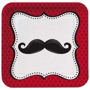 8 Assiettes Moustache Party