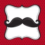 16 Petites Serviettes Moustache Party