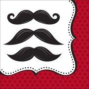 16 Serviettes Moustache Party