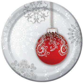 8 Petites Assiettes Boule de Noël