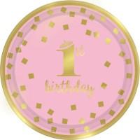 Thème anniversaire Royal Birthday 1 - Rose pour l'anniversaire de votre enfant
