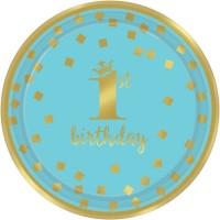 Thème anniversaire Royal Birthday 1 - Bleu pour l'anniversaire de votre enfant