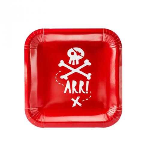Grande Boîte à Fête Pirate Le Rouge
