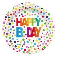 Thème anniversaire Pois Rainbow pour l'anniversaire de votre enfant
