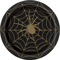 Thème anniversaire Toile d'Araignée Noir et Or pour l'anniversaire de votre enfant