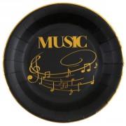 Boîte à fête Musique Or Noir
