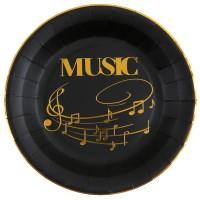 Thème anniversaire Musique Or Noir pour l'anniversaire de votre enfant
