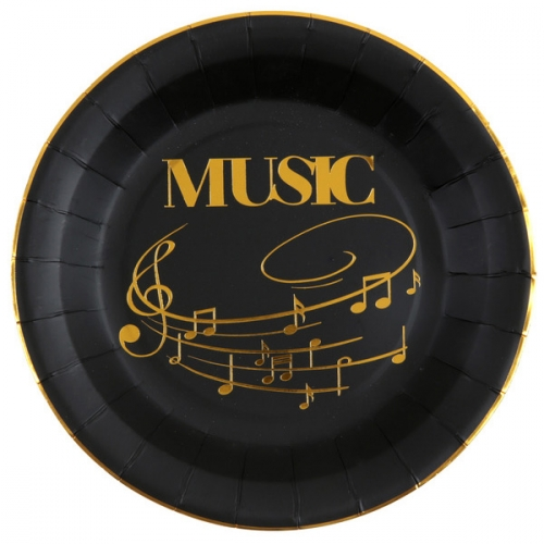 Maxi Boîte à fête Musique Or Noir