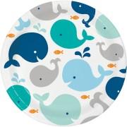 Grande boîte à fête Baleine Bleue