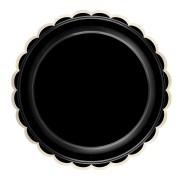 Grande Boîte à Fête Festonnées Noir et Or