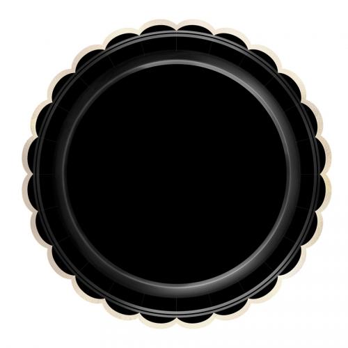 Boîte à Fête Festonnées Noir et Or