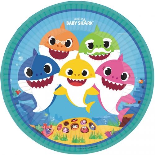 Grande boîte à fête Baby Shark Jaune