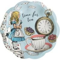 Thème anniversaire Alice Vintage Bleu pour l'anniversaire de votre enfant