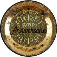 Thème anniversaire Anniversaire Etincelant Or pour l'anniversaire de votre enfant