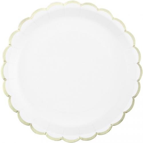 Boîte à Fête Festonnées Blanc et Or