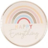 Thème anniversaire Happy Everything Arc-en-Ciel Pastel pour l'anniversaire de votre enfant