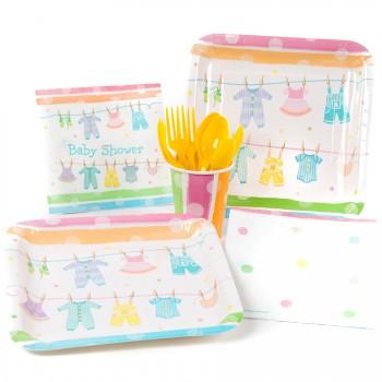 Grande boîte à fête Baby Shower Pastels