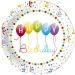 Bo�te invit� suppl�mentaire Happy Birthday Ballons Rainbow. n�1