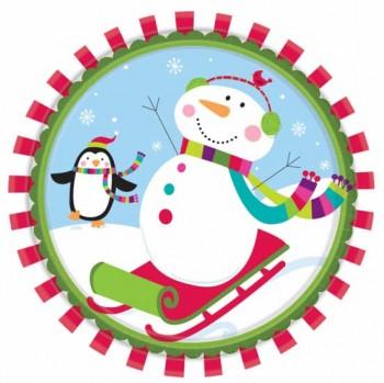 Grande boîte à fête Joyeux Bonhomme de Neige