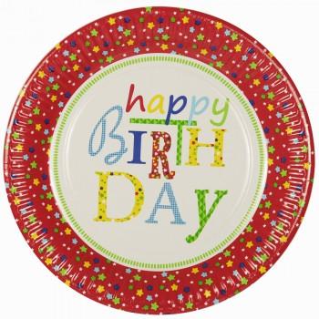 Boîte invité supplémentaire Happy Birthday Rouge